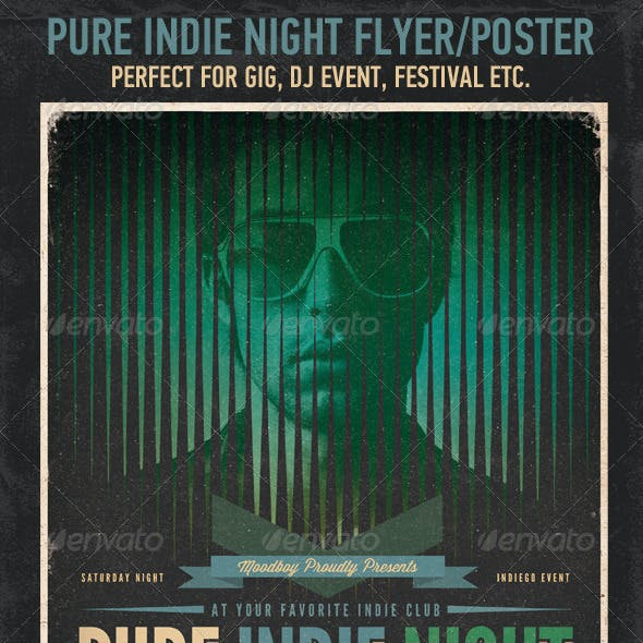 Pure Indie Night Flyer / Poster