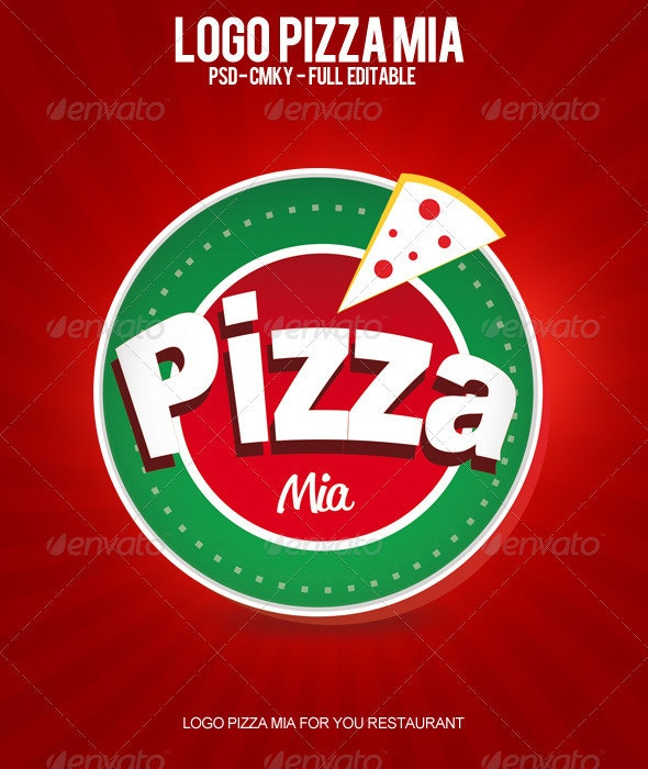 Logo Pizza Mia - Food Logo Templates