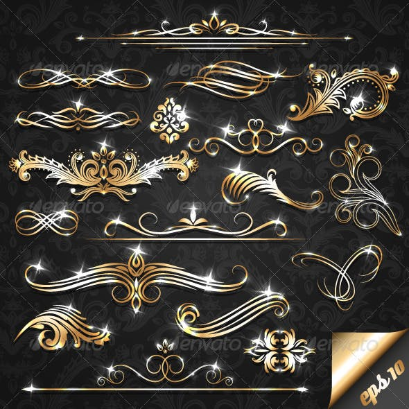 Golden Ornate Elements