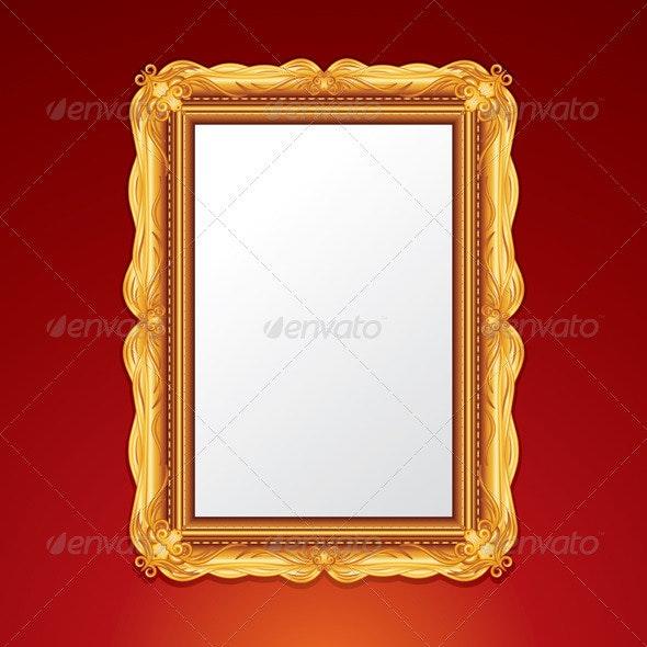 Gold Vintage Frame - Borders Decorative