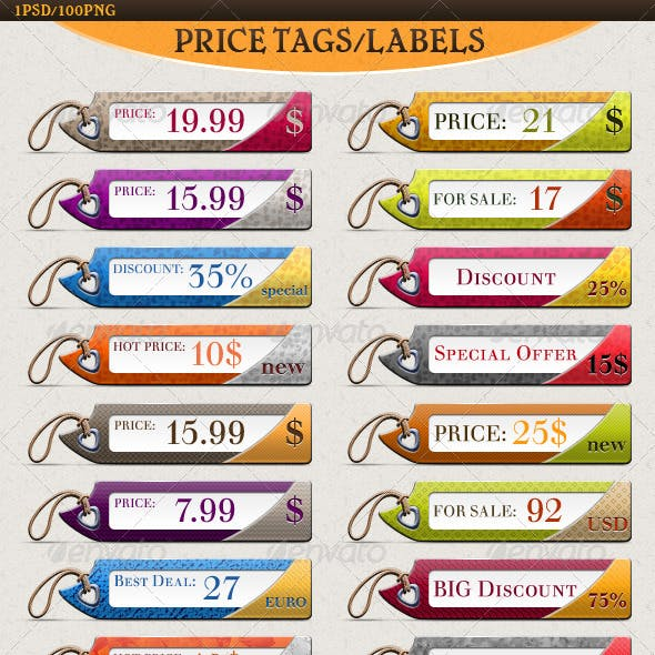 Price, Discount & For Sale Tags