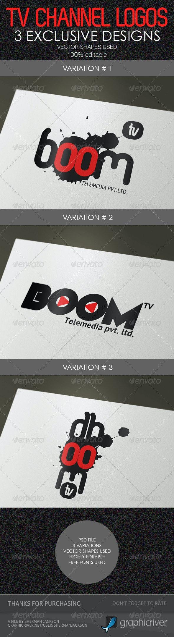 Creative TV Channel Logo Templates (PSD) - Abstract Logo Templates