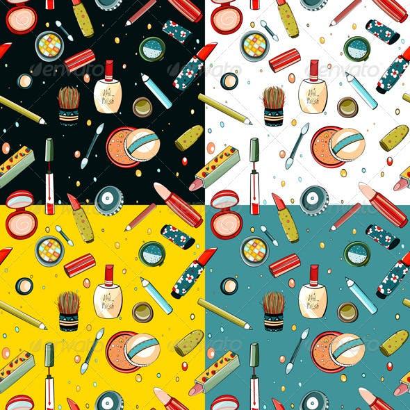 Colorful Makeup Seamless Pattern