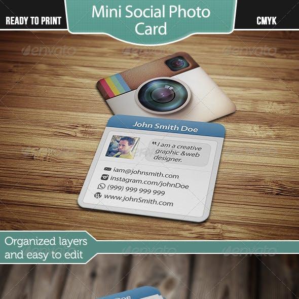 Mini Social Photo Card