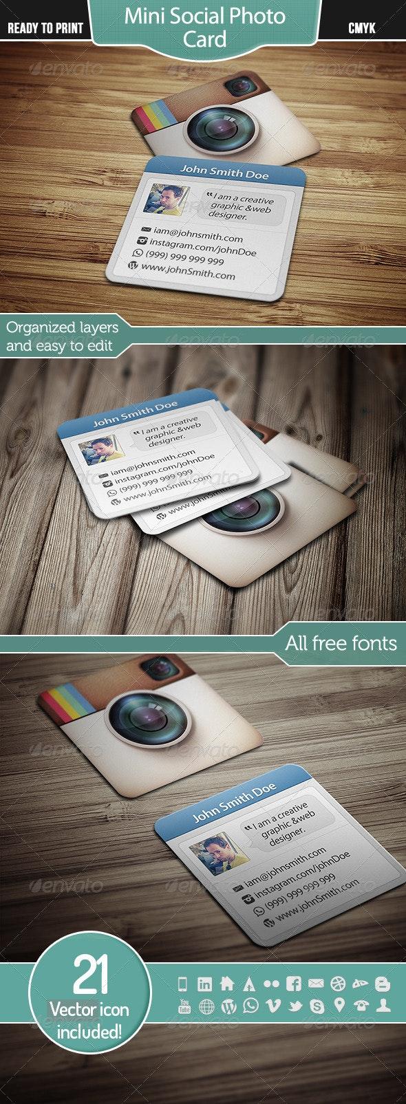 Mini Social Photo Card - Creative Business Cards