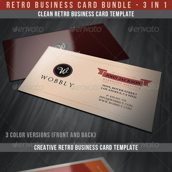 Retro Business Cards Bundle