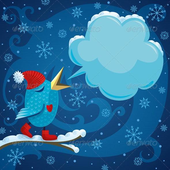 Winter Bird - Seasons/Holidays Conceptual