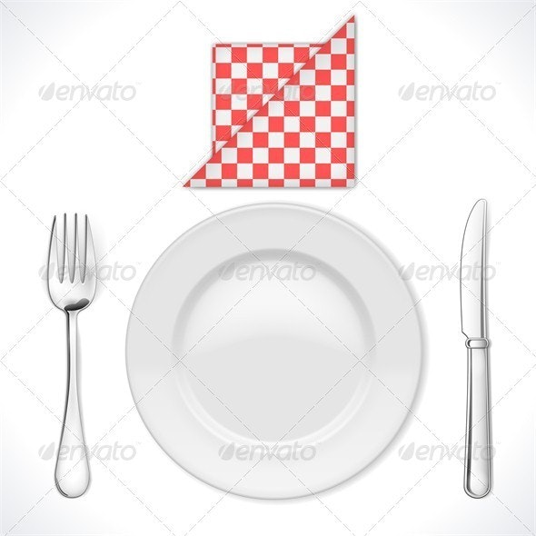 Dinner Place Setting - Food Objects