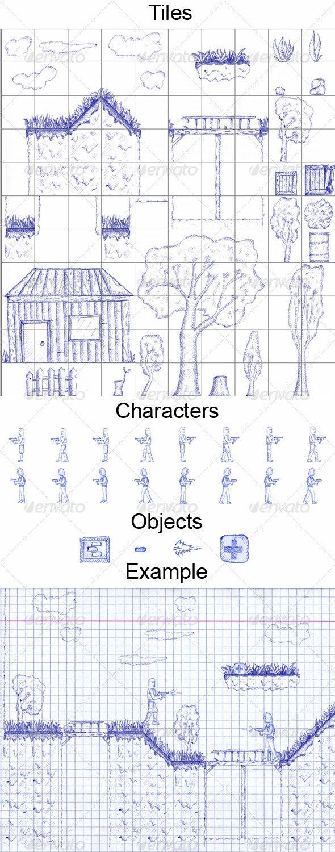 2D Tiles Ballpoint Pen