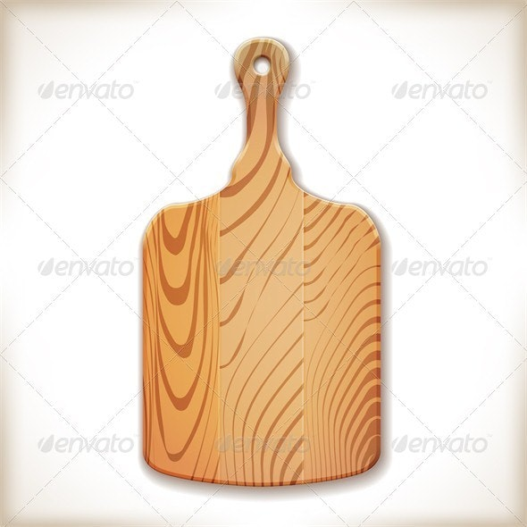 Kitchen Cutting Board - Food Objects