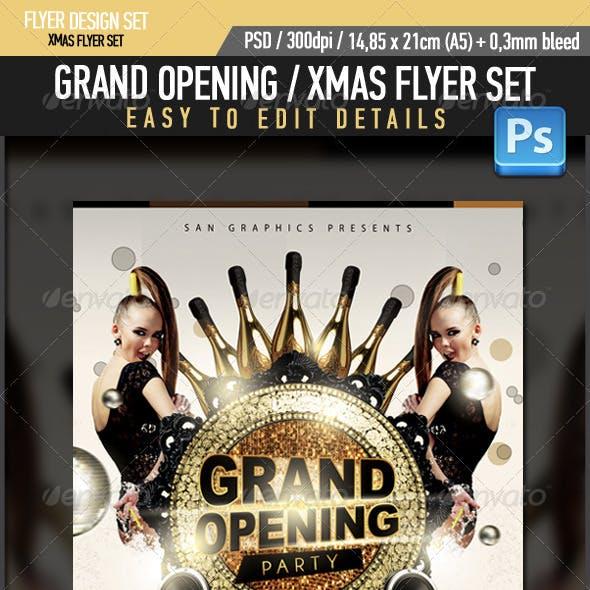 Grand Opening Xmas Flyer Set