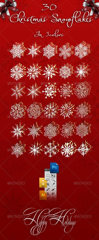 HQ Christmas Snowflakes  - Seasons/Holidays Conceptual