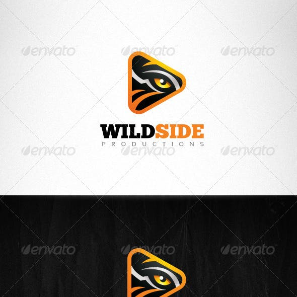 Wild Side Production Tiger Eye Creative Logo
