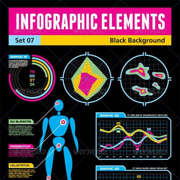 Infographic Elements - Set 07 - Black Background