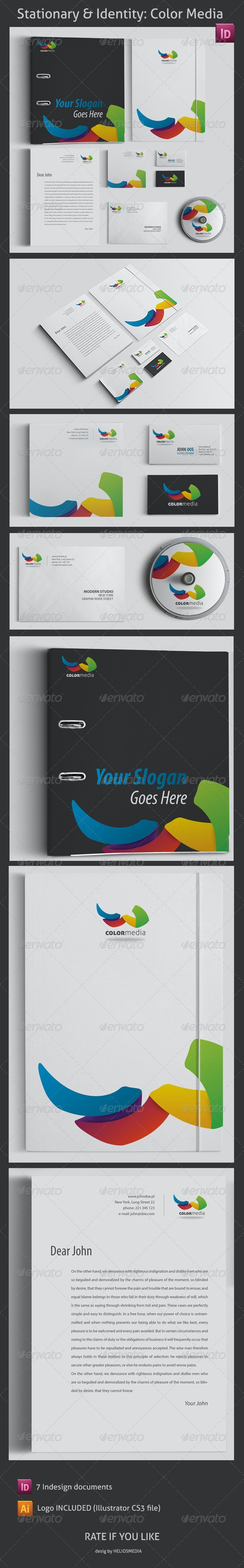 Stationery & Identity: Color Media - Stationery Print Templates
