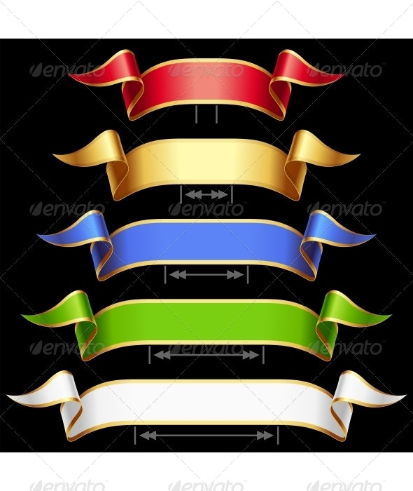 Ribbon Set with Adjusting Length - Decorative Vectors