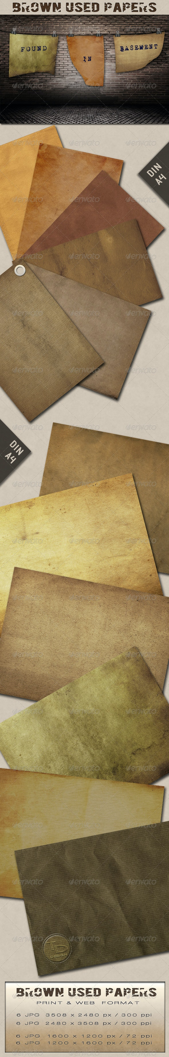 Brown Used Papers - Paper Textures