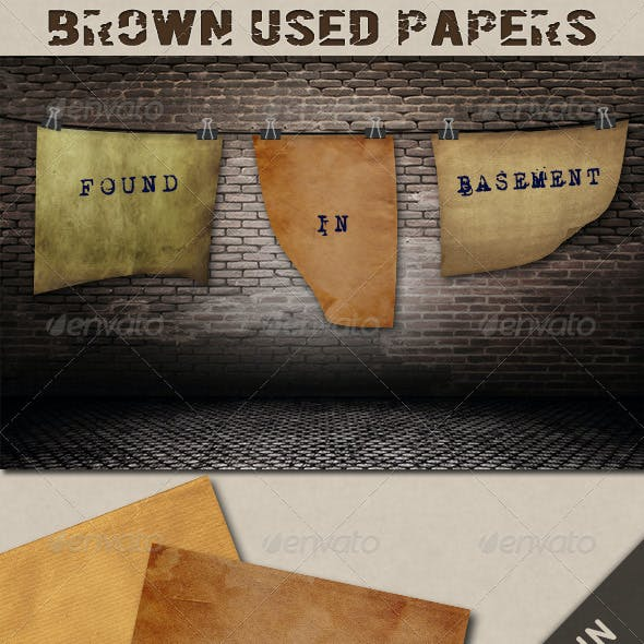 Brown Used Papers