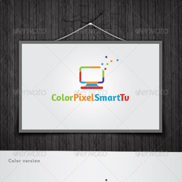 Color Pixel Smart Tv Logo
