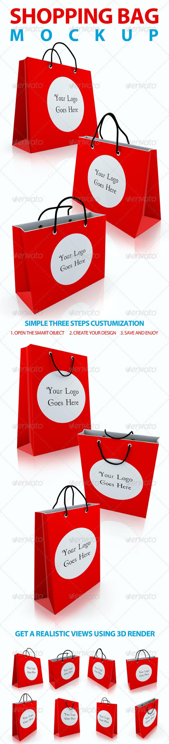 Shopping Bag Mockups - Miscellaneous Packaging
