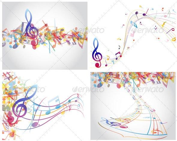 Multicolour  Musical Set - Miscellaneous Vectors