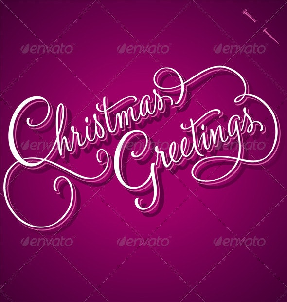 Christmas Greetings Hand Lettering (Vector) - Christmas Seasons/Holidays