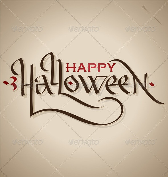 Halloween Hand Lettering (Vector) - Halloween Seasons/Holidays