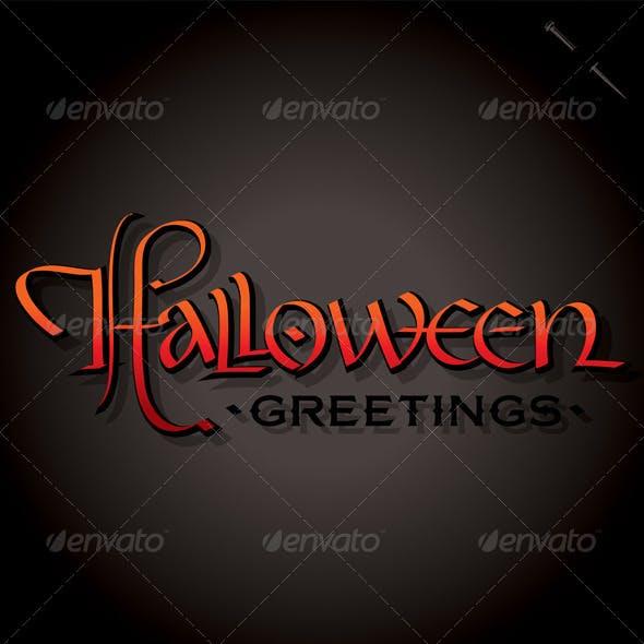 Halloween Hand Lettering (vector)