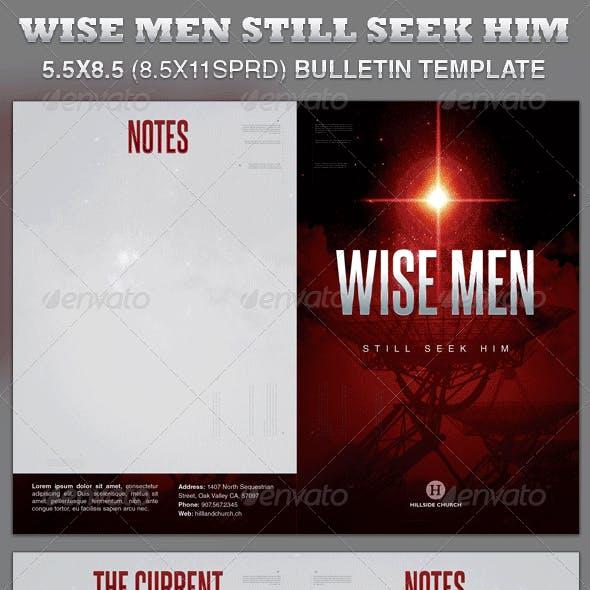 Wise Men Still Seek Him Church Bulletin