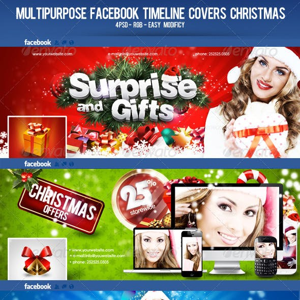 Multipurpose Facebook Timeline Covers Christmas