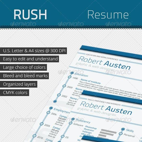 RUSH Professional Resume