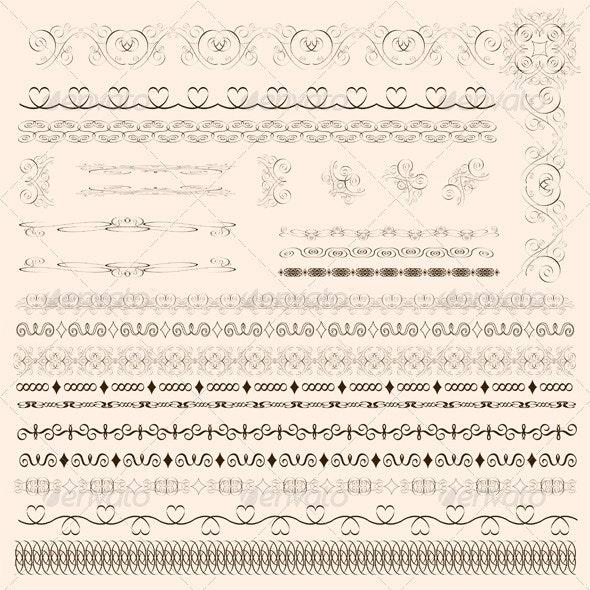 Decorative Border Elements - Borders Decorative