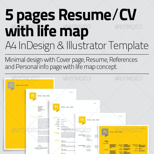 Resume Template | 5 Pages with Life Map