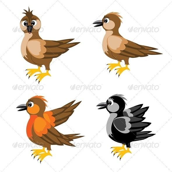 Much Birds Sparrow - Animals Characters