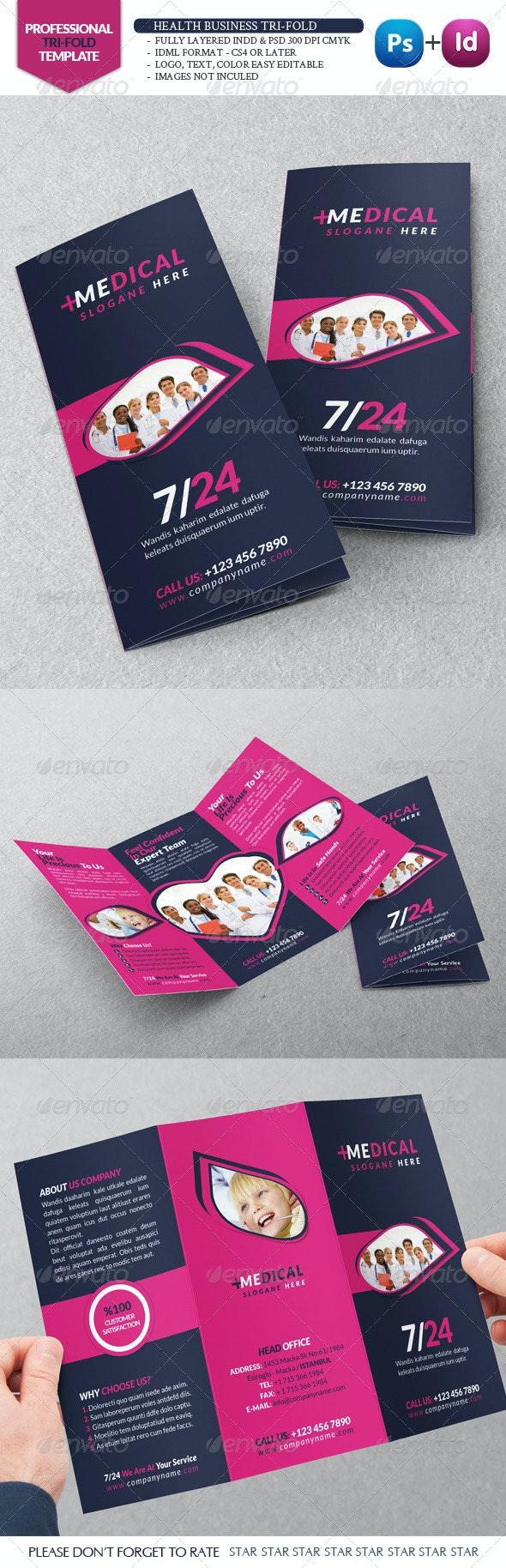 Health Business Tri-Fold - Brochures Print Templates
