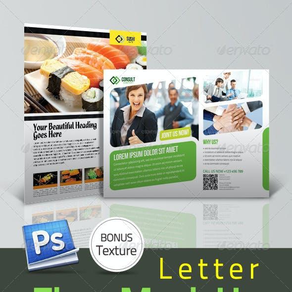 Professional Flyer Letter Mock Up