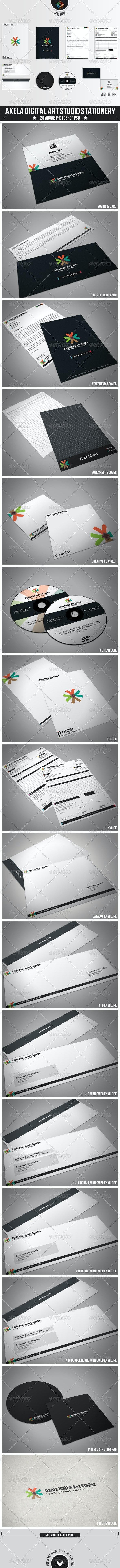 Axela Digital Art Studios Stationery - Stationery Print Templates