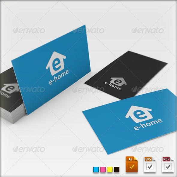 E-home Logo Template