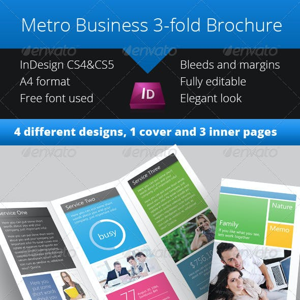 Metro 3-fold Brochure - InDesign Template