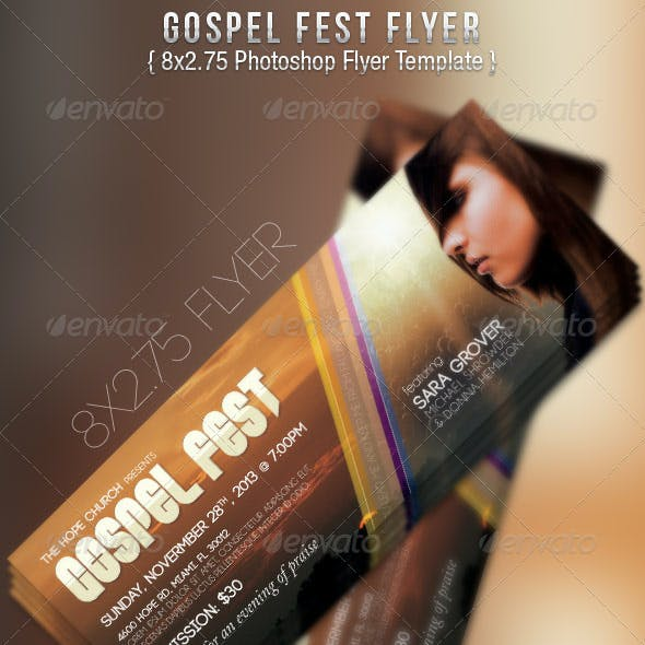 Gospel Fest Concert Flyer Template