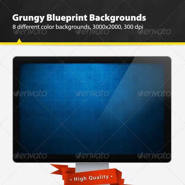 Grungy Blueprint Backgrounds