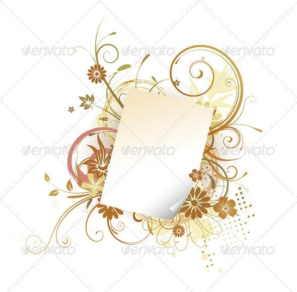 Paper Leaf Frame  - Borders Decorative