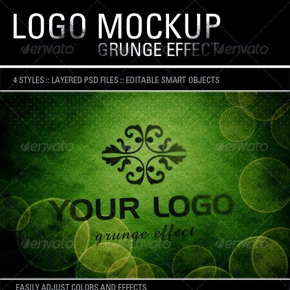 Logo Mockup Grunge Effect 4 Styles