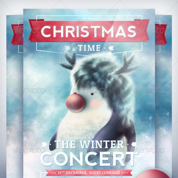 Christmas Time - Party Flyer Template