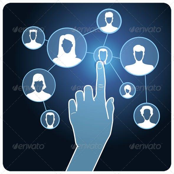 Vector Social Media Network