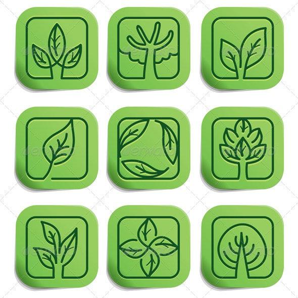 9 Vector Eco Labels - Nature Conceptual