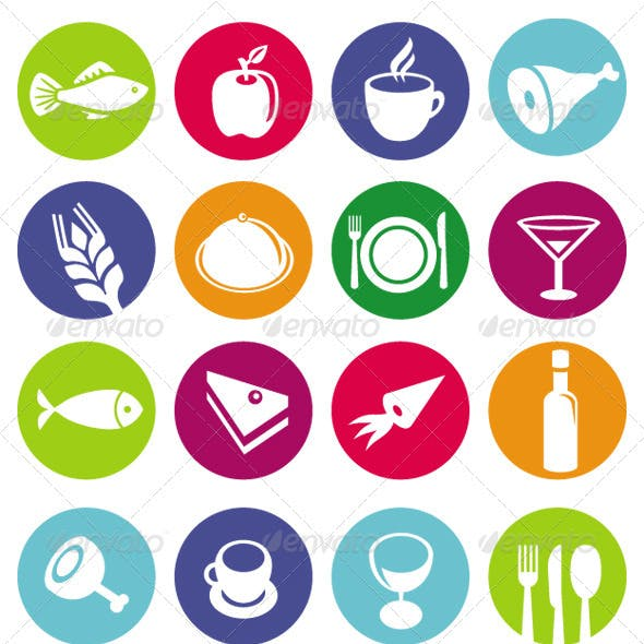 16 Vector Food Icons