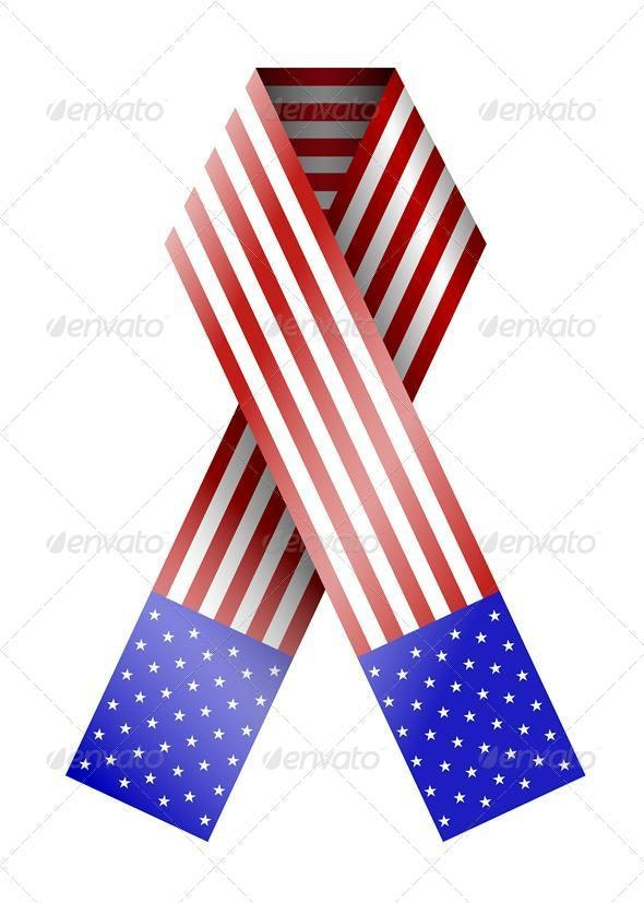 Vector 4th of July Ribbon Isolated on White - Miscellaneous Vectors