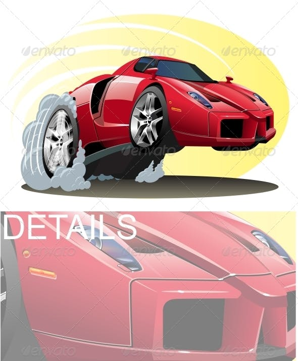 Vector Cartoon Sport Car By Mechanik Graphicriver