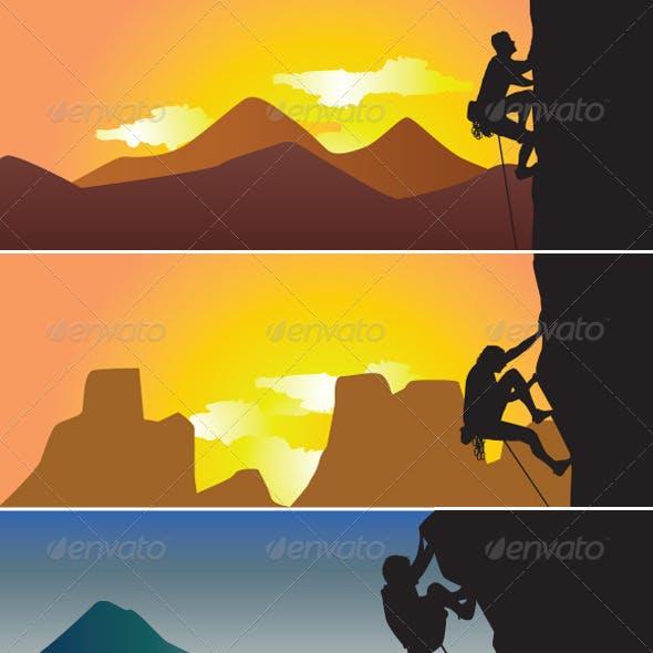 Rock Climbing Silhoutte